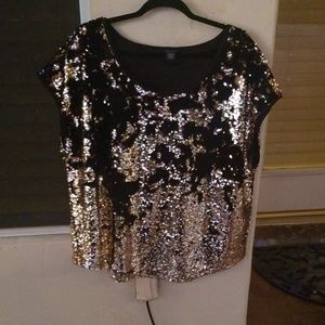 Double sided sequins top